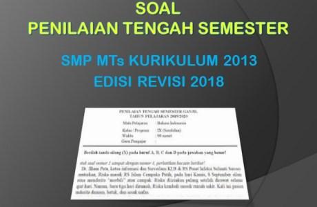 Soal PTS 1 Penjaskes Kelas 9 SMP MTs K13 Edisi Revisi 2018