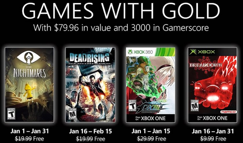 Xbox Games With Gold January 2021