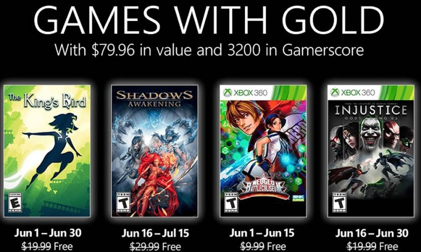 Xbox Games With Gold June 2021