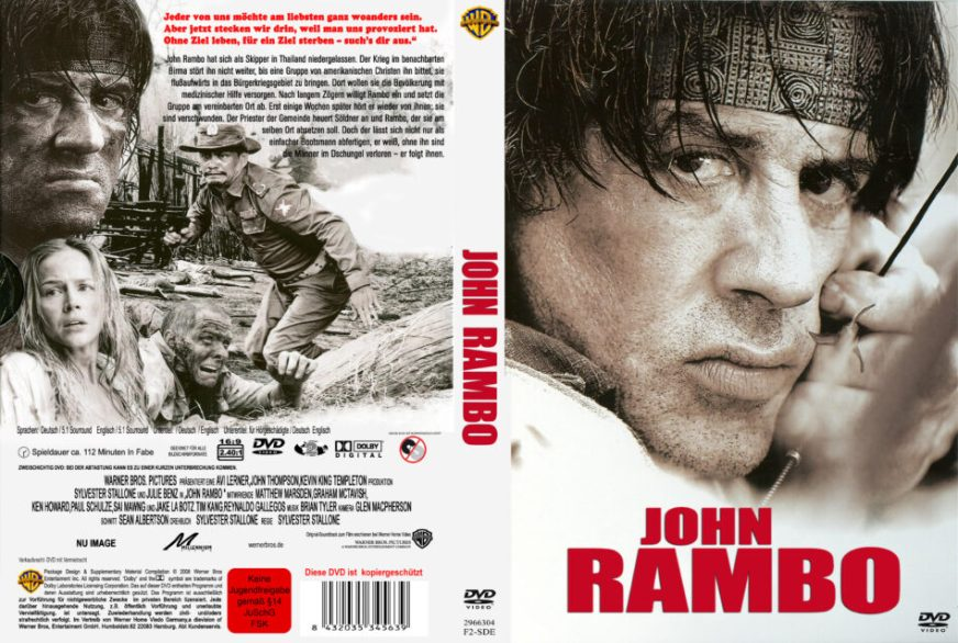 John Rambo dvd cover (2008) R2 GERMAN Custom