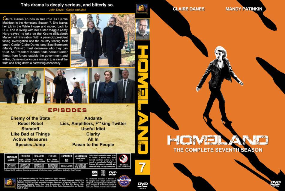 Homeland Season 7 2018 R1 Custom Dvd Cover Labels Dvdcover Com