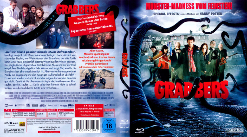 Grabbers Blu Ray Dvd Cover 2013 R2 German