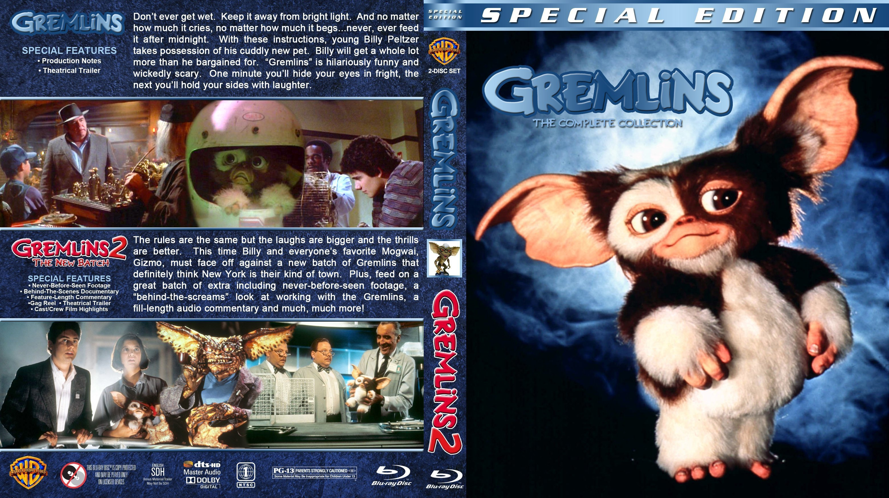 Gremlins Double Feature 1984 1990 R1 Custom Blu Ray