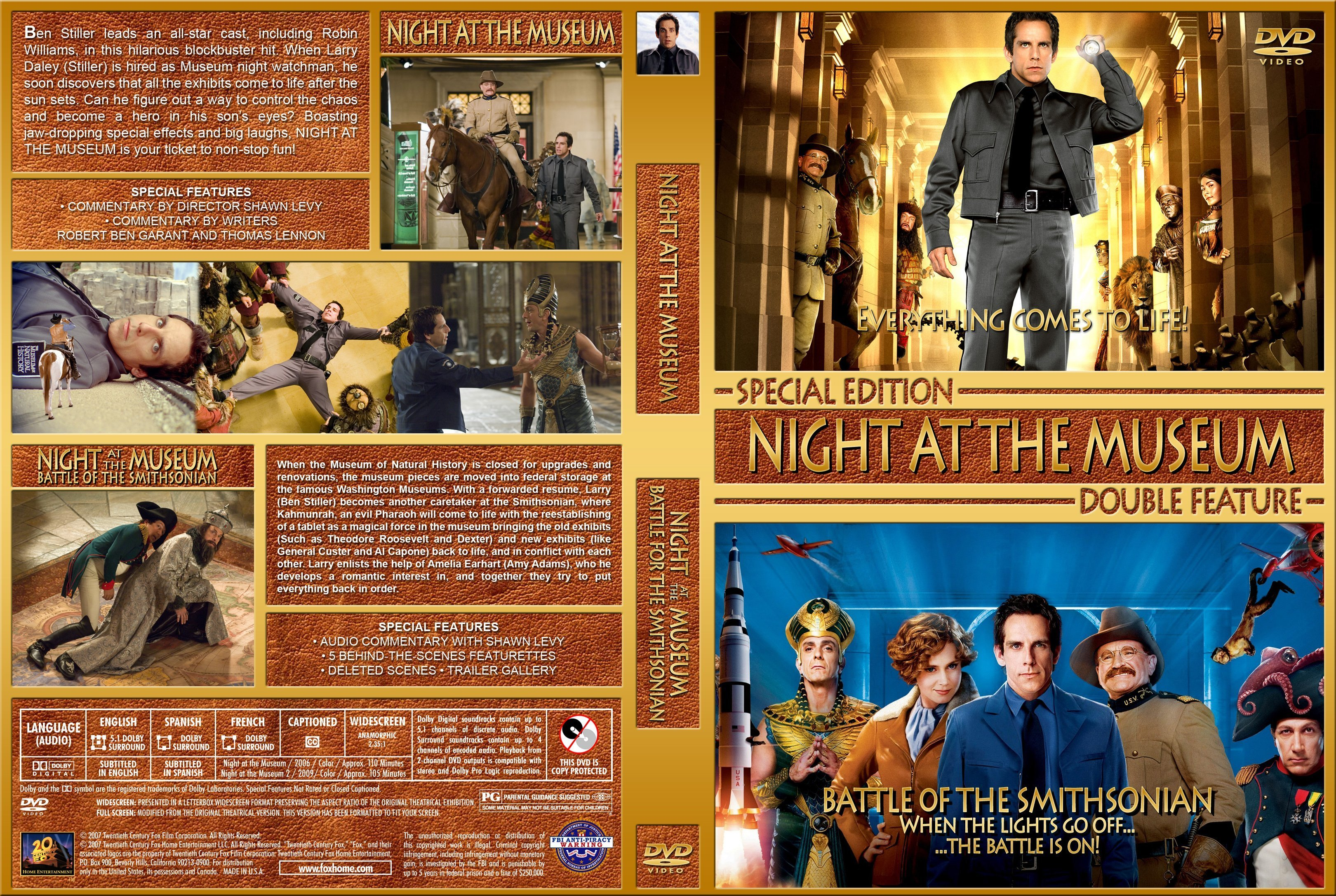 Night At The Museum Double Feature 2006 2009 R1 Custom