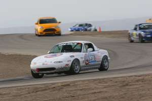 picture of the Disabled Veteran Empowerment Network's 1997 Miata public awareness car