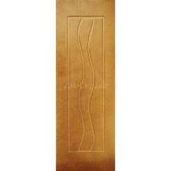 Шпонированная дверь Вираж (глухая, дуб)