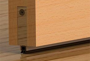Автоматический порог для межкомнатных дверей