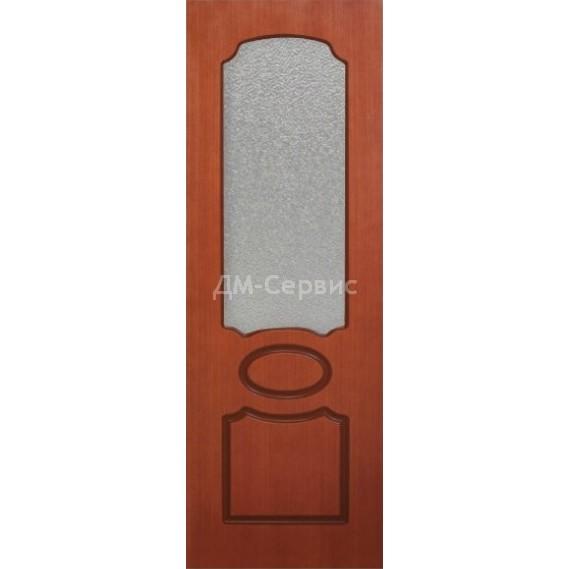 Межкомнатная шпонированная дверь «Глория» (со стеклом)