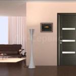 лалминированная дверь со стеклянными вставками