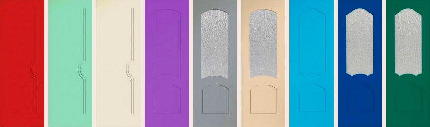 Двери окрашенные эконом класса