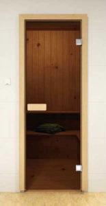 цельностеклянная дверь для бани