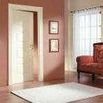 крашеная дверь белого цвета