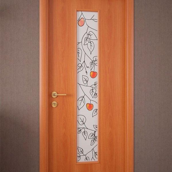 Межкомнатная ламинированная дверь со стеклом