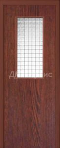 дверь облицованная пластиком  cpl с армированным стеклом