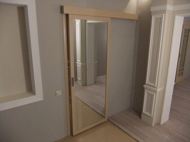 раздвижная зеркальная дверь