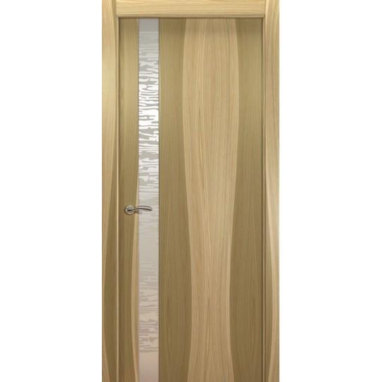 Межкомнатная шпонированная дверь «EGO L Белое» (со стеклом)