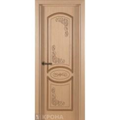 Межкомнатная дверь с натуральным шпоном «Муза ДГ» (глухая)