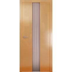 Межкомнатная глянцевая дверь «Avorio-3 Матовое» (со стеклом)