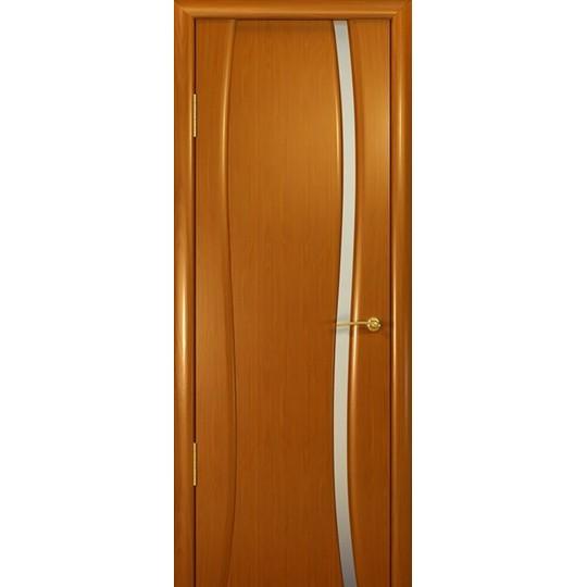 Межкомнатная шпонированная дверь «Буревестник Белый» (со стеклом)