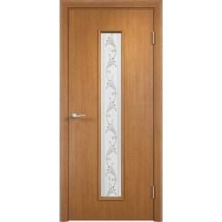 Межкомнатная дверь экошпон «C-21 Х Вьюн» (со стеклом)