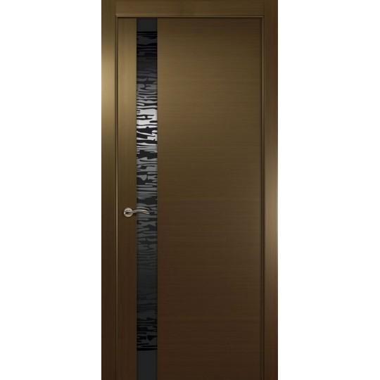 Межкомнатная шпонированная дверь «EGO L Черное» (со стеклом)
