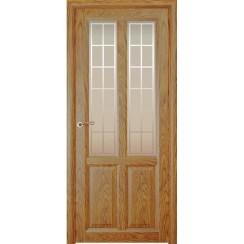 Межкомнатная шпонированная дверь «Optima-4 Решетка» (со стеклом)