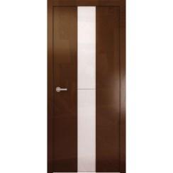 Межкомнатная глянцевая дверь «Avorio-4 Белое» (со стеклом)