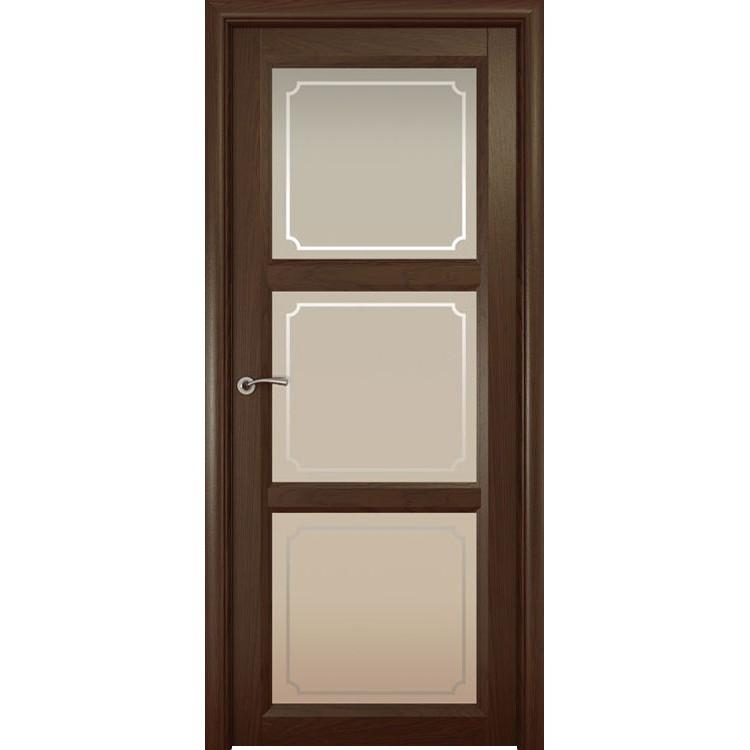 Межкомнатная шпонированная дверь «Optima-3 Рамка» (со стеклом)