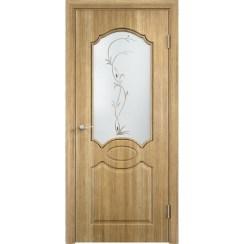 Межкомнатная дверь скин экошпон «Афина ДО ХФ Светлая» (со стеклом)