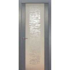 Межкомнатная шпонированная дверь «EGO P Белое» (со стеклом)