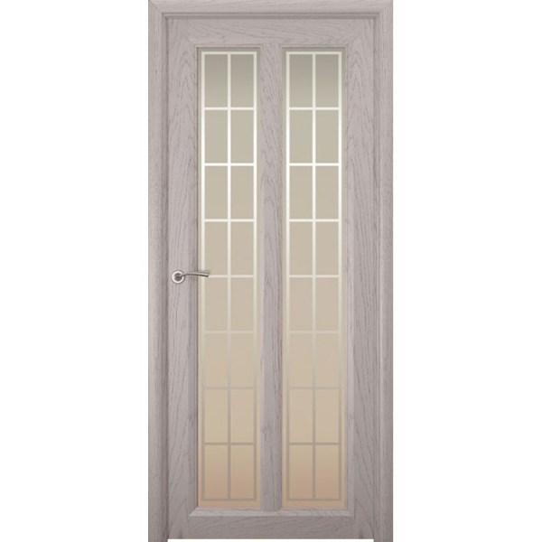 Межкомнатная шпонированная дверь «Optima-5 Решетка» (со стеклом)