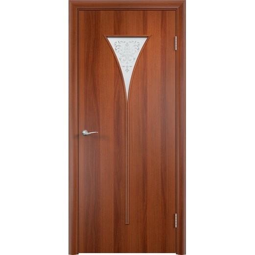 Межкомнатная ламинированная дверь «C-4 Х» (со стеклом)