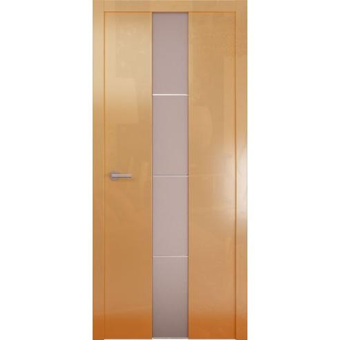 Межкомнатная глянцевая дверь «Avorio-5 Матовое» (со стеклом)