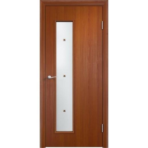 Межкомнатная дверь экошпон «C-28 Ф» (со стеклом)