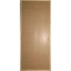 Строительная оргалитовая дверь (глухая)