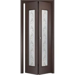 Складная дверь «книжка» C-21 Х Вьюн (со стеклом)