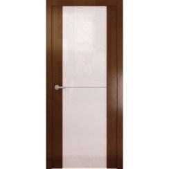 Межкомнатная глянцевая дверь «Avorio-1 Белое» (со стеклом)
