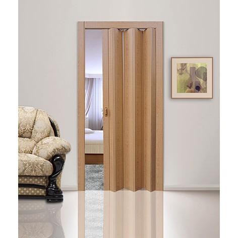 Складная дверь гармошка без витражей