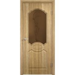 Межкомнатная дверь скин экошпон «Афина ДО ХФ Темная» (со стеклом)