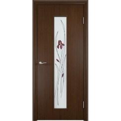 Межкомнатная дверь «C-21 Х Ирис», шпон fine-line (со стеклом)