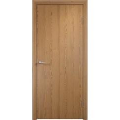 Строительная ламинированная дверь «ГЛП» (дуб седан, глухая)
