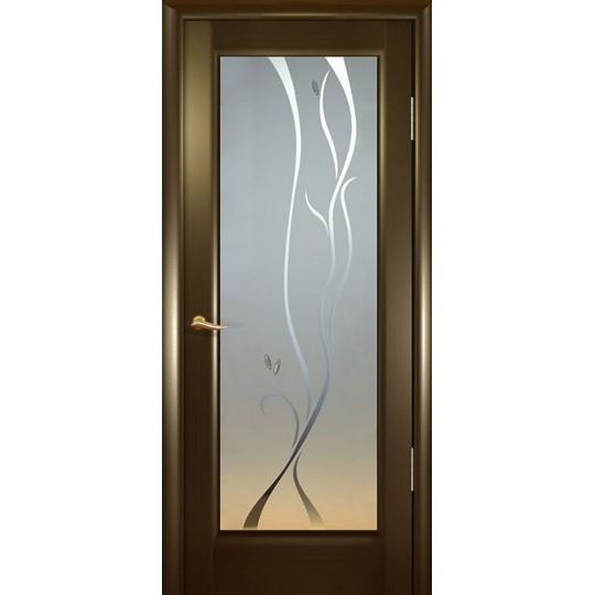 Межкомнатная шпонированная дверь «Новая волна (P)» (глухая)