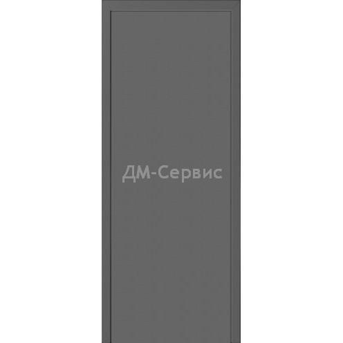 Межкомнатная пластиковая дверь CPL эконом класса (глухая) серая