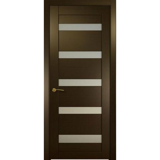 Межкомнатная шпонированная дверь «Ника-1 Белая» (со стеклом)