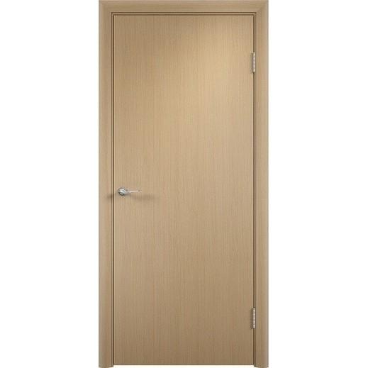 Строительная ламинированная дверь «ГЛП» (беленый дуб, глухая)