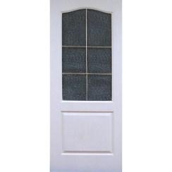 Строительная мазонитовая дверь Классика ПО (со стеклом)