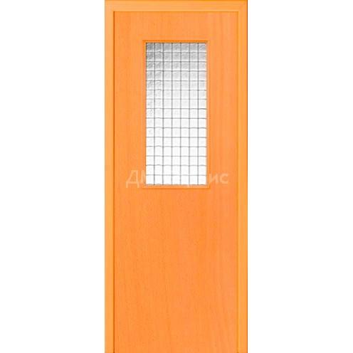 Межкомнатная пластиковая дверь CPL эконом класса (со стеклом)