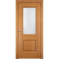Межкомнатная дверь с натуральным шпоном «Прованс ДО» (со стеклом)
