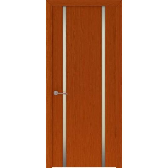 Межкомнатная шпонированная дверь «Шторм-2 Белый» (со стеклом)