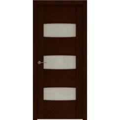 Межкомнатная шпонированная дверь «Rona-4 Белая» (со стеклом)